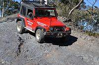 Australian 4x4 Driver Training Jeep doing steep descent