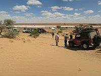 Jeep Wrangler at Poeppel Corner with Australian 4x4 tag Along Tours