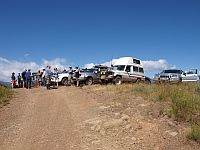 Vehicles lined up during an Australian 4x4 tag Along Tours 4wd High Country tag along