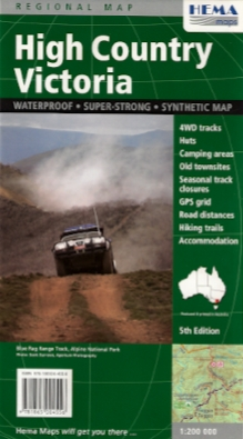 High Country Victoria map
