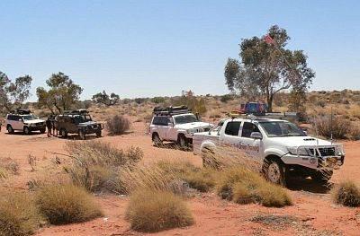 Australian 4x4 Tag Along Tours taking a break at Madigan Camp 16