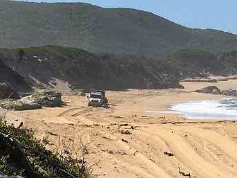 Trial Harbour Beach, Tasmania on Australian 4x4 Tag Along Tours Tasmanian 4wd tag along tour