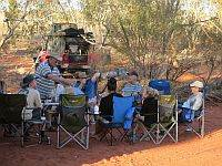 Relaxing on an Australian 4x4 Desert tag Along Tour