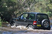 water crossing during Australian 4x4 Driver Training Course