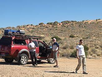 Australian 4x4 Tag Along Tours group taking a break in the Simpson Desert