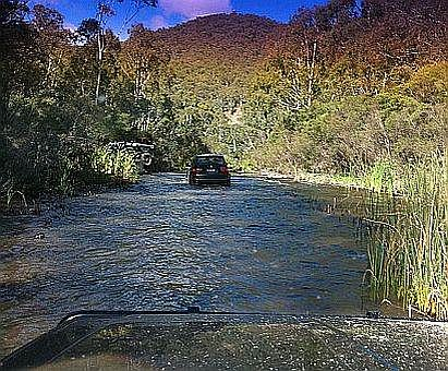 BMW driving through water on Australian 4x4 Driver Training Course