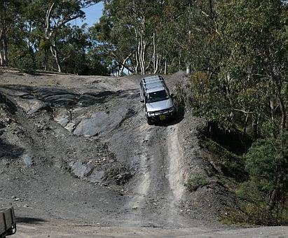 vehicle on quarry during Australian 4x4 Driver Training Course