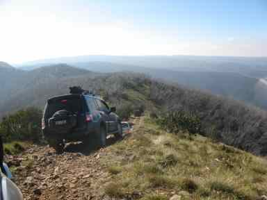 Pajero on Blue Rag Range during an Australian 4x4 Tag Along Tours 4wd trip