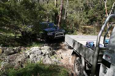 creek crossing during Australian 4x4 Driver Training 4wd training course