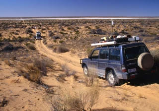 approaching salt flat simpson desert