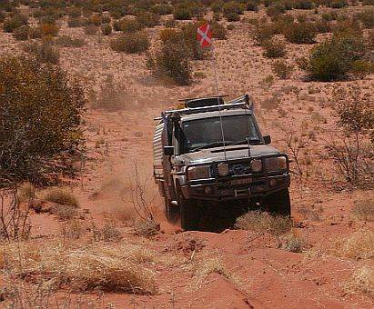 Hay River Track on Australian 4x4 Tag Along Tour