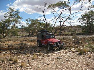 Australian 4x4 Tag Along Tours turning off the beaten track in the Simpson Desert